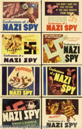 Movie Posters:Drama, Confessions of a Nazi Spy (Warner Brothers, 1939).... (8 items)