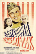 Movie Posters:War, Sergeant York (Warner Brothers, 1941)....