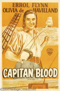 Movie Posters:Adventure, Captain Blood (Warner Brothers, 1935)....