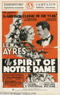 Movie Posters:Sports, The Spirit of Notre Dame (Universal, 1931)....