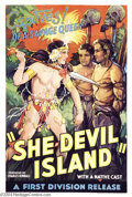 Movie Posters:Adventure, She-Devil Island (First Division Pictures Inc, 1936)....