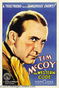 Movie Posters:Western, The Western Code (Columbia, 1932)....