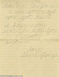 Movie Posters:Miscellaneous, Shirley Temple Letter and Still (Circa 1935).... (4 items)