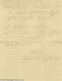Shirley Temple Letter and Still (Circa 1935).... (4 items)