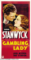Movie Posters:Drama, Gambling Lady (Warner Brothers - Vitaphone, 1934)....