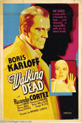 Movie Posters:Horror, The Walking Dead (Warner Brothers, 1936)....