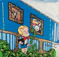 Alec Monopoly (b. 1986) Richie Rich Room, 2014 Mixed media on canvas 74 x 71 inches (188.0 x 180