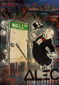 Alec Monopoly (b. 1986) Monopoly Board, 2015 Mixed media on canvas 36 x 24 inches (91.4 x 61 cm)<