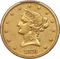 1873 $10 Closed 3 -- Altered Surfaces -- PCGS Genuine. VF Details....(PCGS# 8666)