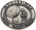 Explorers:Space Exploration, Apollo 14 Flown Silver Robbins Medallion, Serial Number 133, Directly from the Personal Collection of Mission Support Crew Mem...