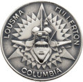 Explorers:Space Exploration, Space Shuttle Columbia (STS-3) Unflown Silver Robbins Medallion, Serial Number 118, Directly from the Personal Col...
