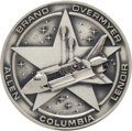 Explorers:Space Exploration, Space Shuttle Columbia (STS-5) Unflown Silver Robbins Medallion, Serial Number 144, Directly from the Personal...
