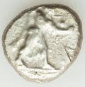 Ancients:Greek, Ancients: CYPRUS. Citium. Azbaal (ca. 449-425 BC). AR stater (23mm, 11.00 gm, 11h). VF, test cuts....