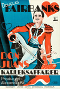 """Movie Posters:Adventure, The Private Life of Don Juan (United Artists, 1935). Folded, Very Fine/Near Mint. Swedish One Sheet (27"""" X 39.5"""").. ..."""