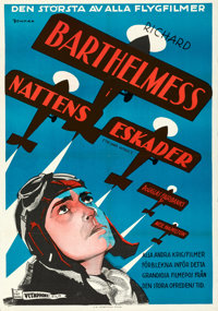 "The Dawn Patrol (First National, 1930). Folded, Very Fine+. Swedish One Sheet (27.5"" X 39.5"") Eric Rohman Artw..."