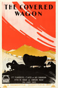 "Movie Posters:Western, The Covered Wagon (Paramount, 1924). Folded, Very Fine. Swedish One Sheet (23.5"" X 33.25"") Eric Rohman Artwork.. ....."