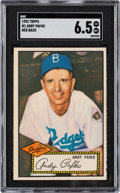 Baseball Cards:Singles (1950-1959), 1952 Topps Andy Pafko (Red Back) #1 SGC EX/NM+ 6.5....