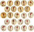 "Baseball Collectibles:Pins, C. 1900 Whitehead & Hoag Baseball ""Positions"" Pins (White Backgrounds) Collection (23). ..."