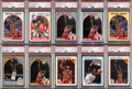 Baseball Cards:Lots, 1990-98 Hoops Michael Jordan PSA Gem Mint 10 Collection (21)....