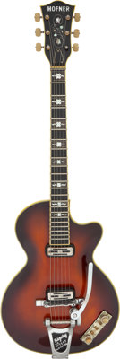 1960 Hofner Club 60 Sunburst Semi-Hollow Body Electric Guitar, Serial # 1186