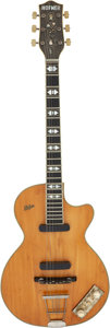 Musical Instruments:Electric Guitars, Circa 1959 Hofner Club 60 Natural Semi-Hollow Body Electric Guitar, Serial # 543.. ...