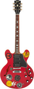 Musical Instruments:Electric Guitars, 2005 Gibson Alvin Lee ES-335 Red Semi-Hollow Body Electric Guitar, Serial # AL 03....
