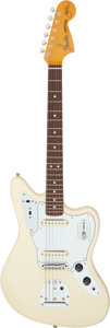 Musical Instruments:Electric Guitars, 2002 Fender Jaguar Olympic White Solid Body Electric Guitar, Serial # V209700.. ...