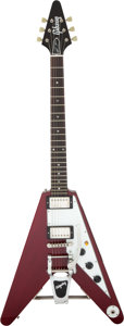 Musical Instruments:Electric Guitars, 1994 Gibson Lonnie Mack Flying V Cherry Solid Body Electric Guitar, Serial # 94007178.. ...