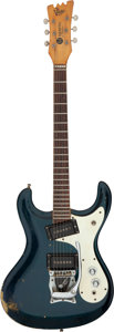 Musical Instruments:Electric Guitars, 1966 Mosrite Ventures Blue Solid Body Electric Guitar. ...