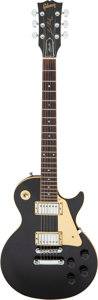 Musical Instruments:Electric Guitars, 1986 Gibson Les Paul Studio Black Solid Body Electric Guitar, Serial #83166520.. ...