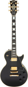 Musical Instruments:Electric Guitars, 1985 Gibson Les Paul Custom Black Solid Body Electric Guitar, Serial # 81055619.. ...