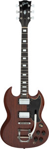 Musical Instruments:Electric Guitars, Circa 1972 Gibson SG Walnut Solid Body Electric Guitar, Serial # 052147.. ...