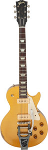 Musical Instruments:Electric Guitars, 2001 Historic Gibson Les Paul R-6 Gold Solid Body Electric Guitar, Serial # 6 1085.. ...