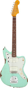 Musical Instruments:Electric Guitars, 2015 Fender Jazzmaster Surf Green Solid Body Electric Guitar, Serial # MX15672517.. ...