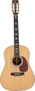 Musical Instruments:Acoustic Guitars, 1991 Martin D-41 S Natural Acoustic Guitar, Serial #507486.. ...