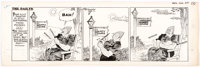 Stanley Link The Dailys Daily Original Art Comic Strip dated 8-4-48(Chicago Tribune, 1948)