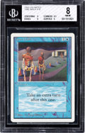 Memorabilia:Trading Cards, Magic: The Gathering Unlimited Edition Time Walk BGS 8 (Wizards of the Coast, 1993)....