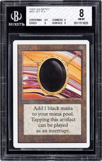 Magic: The Gathering Unlimited Edition Mox Jet BGS 8 (Wizards of the Coast, 1993)