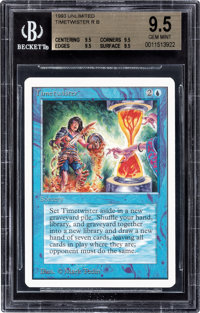 Magic: The Gathering Unlimited Edition Timetwister BGS 9.5 QUAD (Wizards of the Coast, 1993)