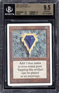 Magic: The Gathering Unlimited Edition Mox Sapphire BGS 9.5 (Wizards of the Coast, 1993)