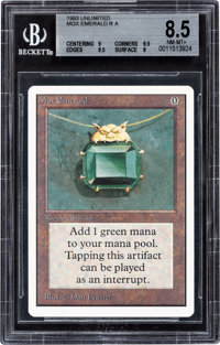 Magic: The Gathering Unlimited Edition Mox Emerald BGS 8.5 (Wizards of the Coast, 1993)