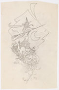 Original Comic Art:Miscellaneous, Edgar Church Halloween Preliminary Original Artwork (c. 1960s)....