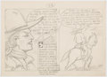 Original Comic Art:Miscellaneous, Edgar Church U.S. Marchel Steve Dimond (sic) Preliminary Comics-Panel Design Original Art (c. 1940s). ...