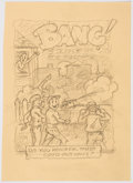 Original Comic Art:Miscellaneous, Edgar Church BANG! Original Preliminary Artwork (Ideal Art Service, c. 1960s)....