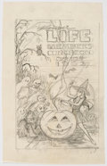 Original Comic Art:Miscellaneous, Edgar Church Denver Life Members Luncheon Halloween Program Cover Preliminary Original Artwork (1962).. ...