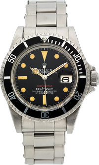 Rolex, Ref. 1680 Red Submariner, Mark V Feet First Dial, Oyster Perpetual Date, Circa 1973
