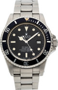 "Timepieces:Wristwatch, Rolex, Ref. 16660 Sea-Dweller ""Triple Six"", Gloss Dial ""Spidered"", Stainless Steel, Circa 1984. ..."
