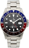 Timepieces:Wristwatch, Rolex, Ref 1675 GMT-Master, Mark 5 Matte Dial, Stainless Steel, Box and Papers, Circa 1971. ...