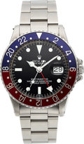 Timepieces:Wristwatch, Rolex, Ref. 1675 GMT-Master, Mark 6 Luminova Dial, Stainless Steel, Circa 1972. ...