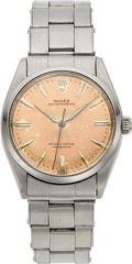 Timepieces:Wristwatch, Rolex, Ref. 6564 Oyster Perpetual, Stainless Steel, Chronometer, Circa 1955. ...